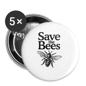 Save The Bees (bicolor) S-5X T-Shirt - Large Buttons