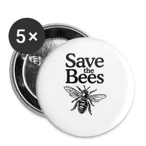 Save The Bees (bicolor) S-5X T-Shirt - Small Buttons