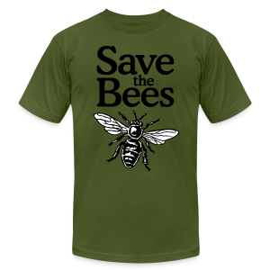 Save The Bees (bicolor) S-5X T-Shirt - Men's T-Shirt by American Apparel