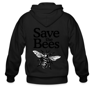 Save The Bees (bicolor) S-5X T-Shirt - Men's Zip Hoodie