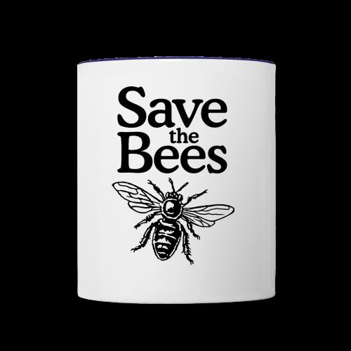 Save The Bees (bicolor) S-5X T-Shirt - Contrast Coffee Mug