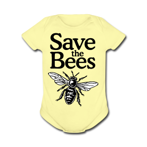 Save The Bees (bicolor) S-5X T-Shirt - Short Sleeve Baby Bodysuit