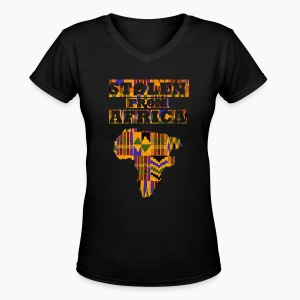 Stolen From Africa Apparel - Women's V-Neck T-Shirt