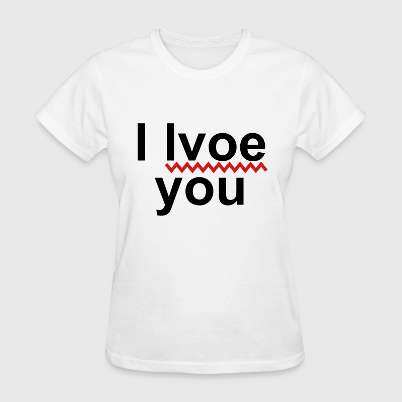 i lvoe you T-Shirts - Women's T-Shirt