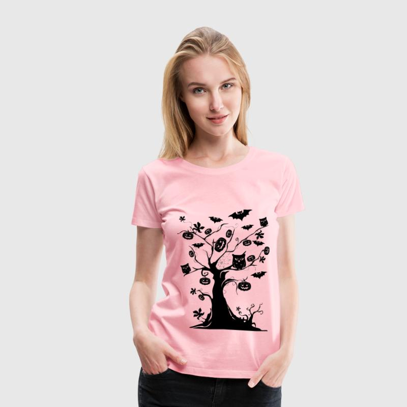 Halloween Tree Silhouette - Women's Premium T-Shirt