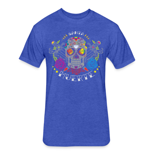 Santa Muerta - Fitted Cotton/Poly T-Shirt by Next Level