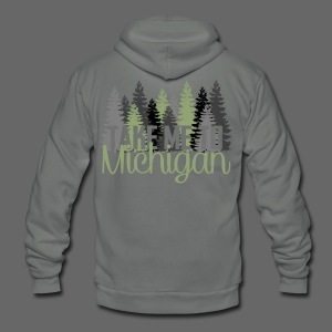 Take Me To Michigan - Unisex Fleece Zip Hoodie by American Apparel