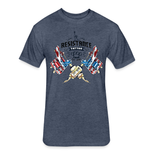 Resistance Tattoo - Fitted Cotton/Poly T-Shirt by Next Level