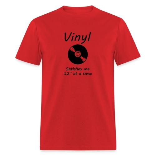 Vinyl Satisfies Me on Men's Tee - Men's T-Shirt