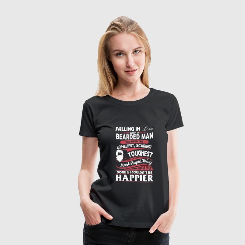 Bearded man - Falling in love with a bearded man - Women's Premium T-Shirt