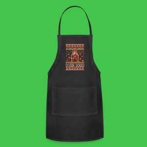 All I Want For Christmas Is To Reach Over 9000 - Adjustable Apron