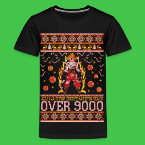 All I Want For Christmas Is To Reach Over 9000 - Kids' Premium T-Shirt