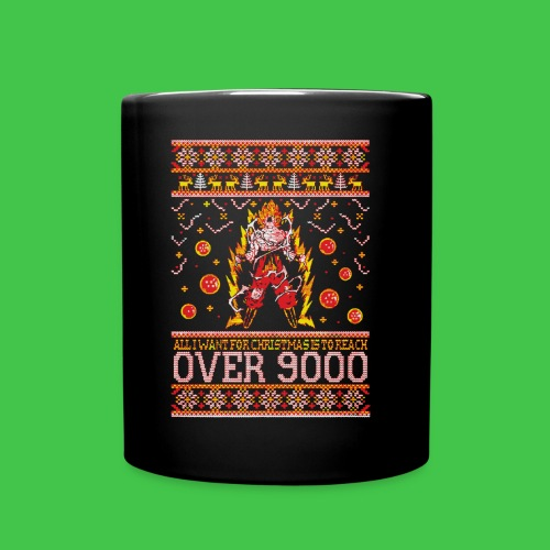All I Want For Christmas Is To Reach Over 9000 - Full Color Mug