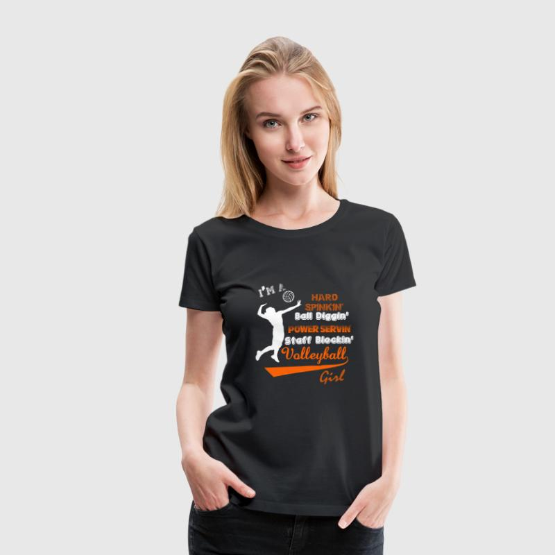 Volleyball - I'm a staff blocking volleyball girl - Women's Premium T-Shirt