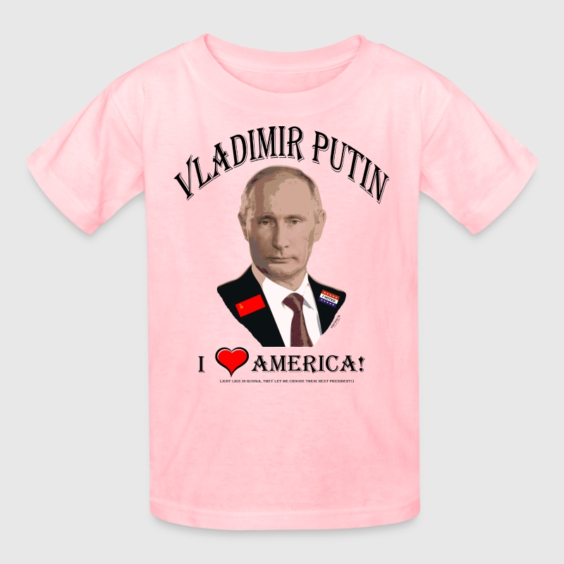 PUTIN:  I LOVE AMERICA! (Satire!) Kids' Shirts - Kids' T-Shirt