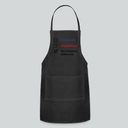 Election Ballot - We're Fucked - Adjustable Apron