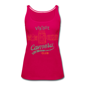 Vintage Camera Club - Women's Premium Tank Top