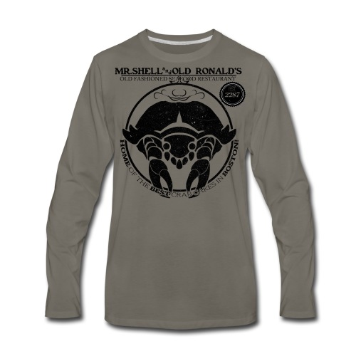 Mr. Shell and Old Ronald's Old Fashioned Seafood Restaurant - Men's Premium Long Sleeve T-Shirt