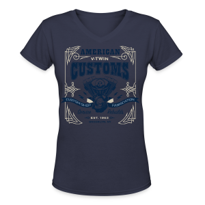 V-Twin Customs - Women's V-Neck T-Shirt