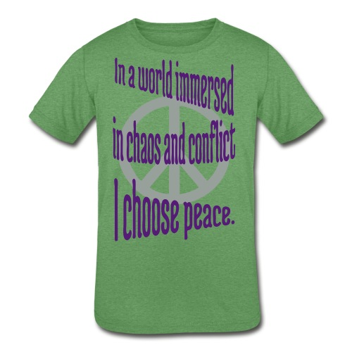 I Choose Peace - Kids' Tri-Blend T-Shirt