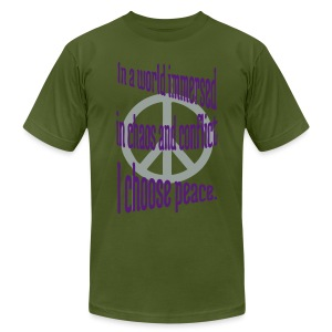 I Choose Peace - Men's T-Shirt by American Apparel