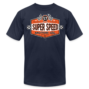 Super_Speed_Oil - Men's T-Shirt by American Apparel