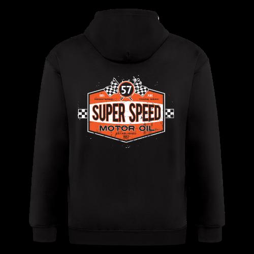 Super_Speed_Oil - Men's Zip Hoodie