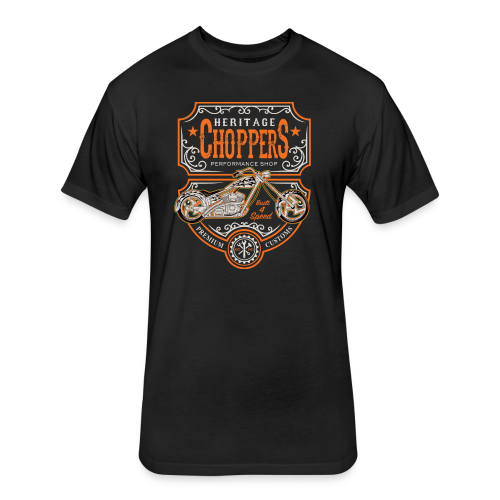 Heritage Choppers - Fitted Cotton/Poly T-Shirt by Next Level