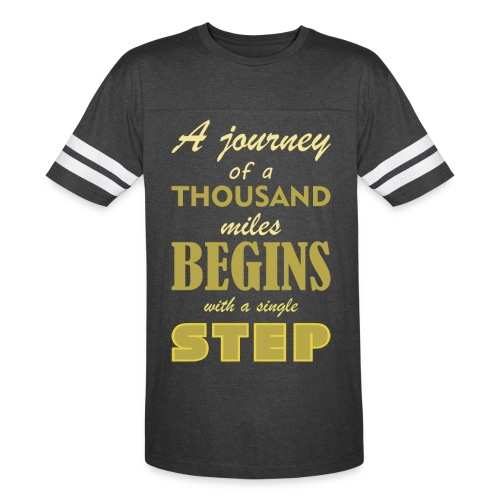 A Journey Of A Thousand Miles - Vintage Sport T-Shirt