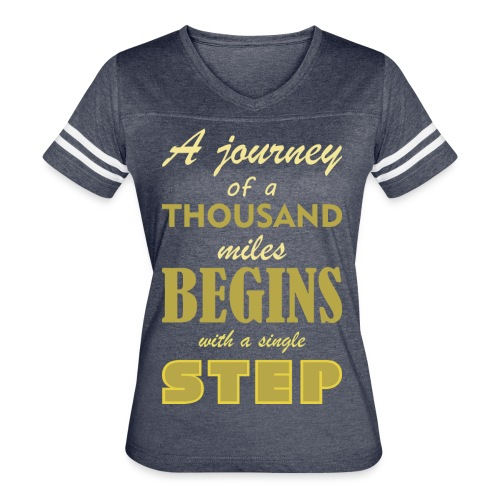 A Journey Of A Thousand Miles - Women's Vintage Sport T-Shirt