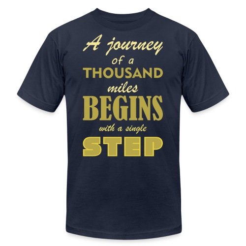 A Journey Of A Thousand Miles - Men's Jersey T-Shirt
