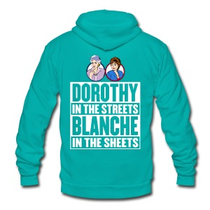 Blanche and Dorothy - Unisex Fleece Zip Hoodie by American Apparel