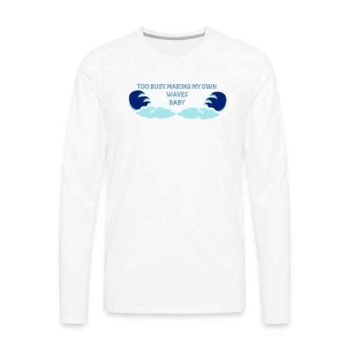 Waves Base Ball Tee - Men's Premium Long Sleeve T-Shirt
