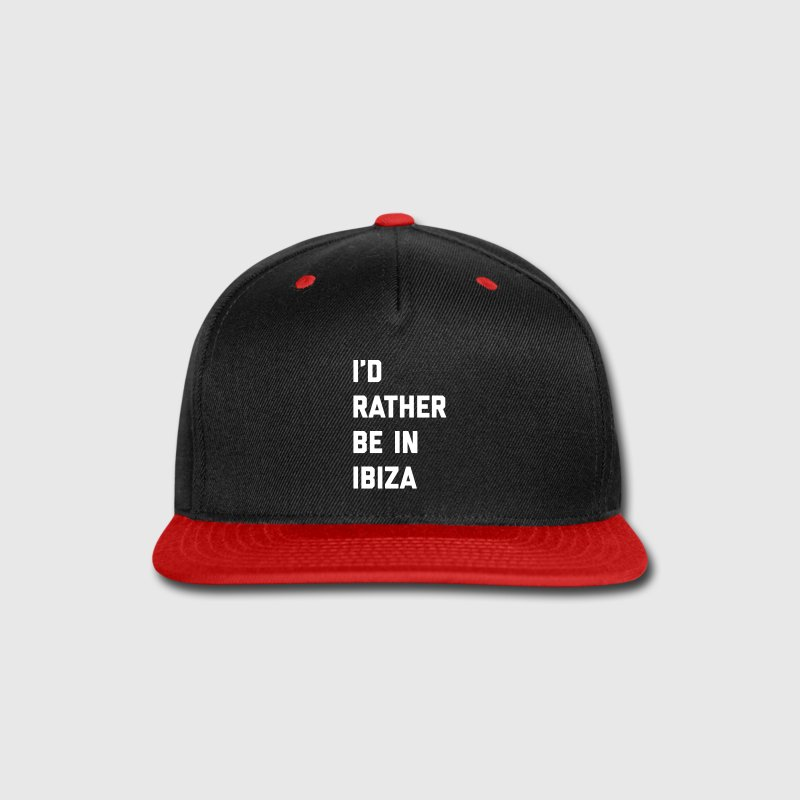 Be In Ibiza Music Quote Sportswear - Snap-back Baseball Cap