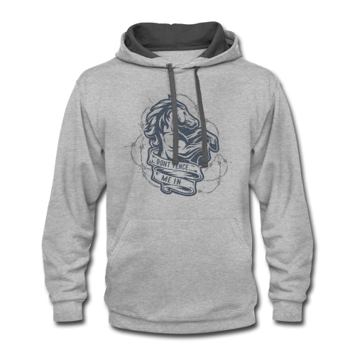Dont Fence Me In - Contrast Hoodie