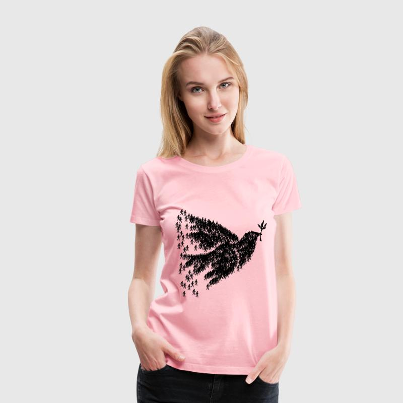 people for peace (dove) - Women's Premium T-Shirt