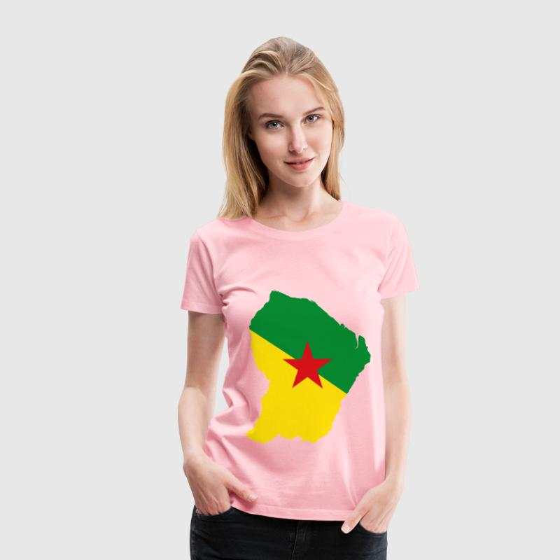 French Guiana Map Flag - Women's Premium T-Shirt