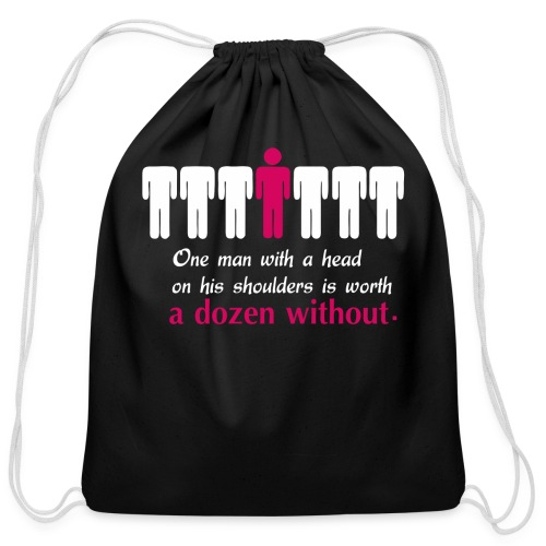 One Mans Worth - Cotton Drawstring Bag