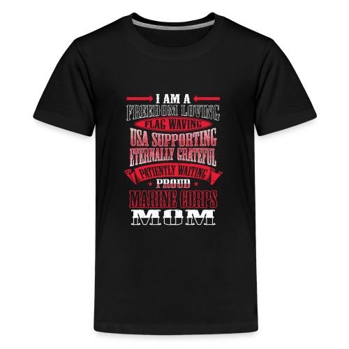 Proud Marine Mom - Kids' Premium T-Shirt