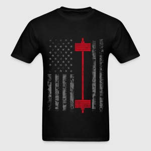 Power Lift - American Power weight lifting - Men's T-Shirt
