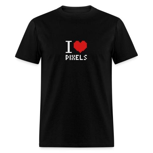 I Love Pixels - Mens Tee Black - Men's T-Shirt