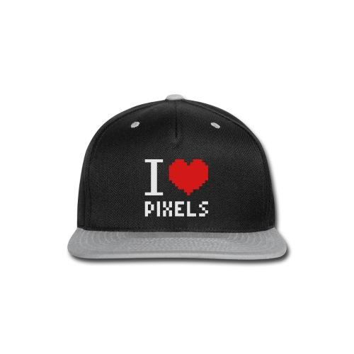 I Love Pixels - Mens Tee Black - Snap-back Baseball Cap
