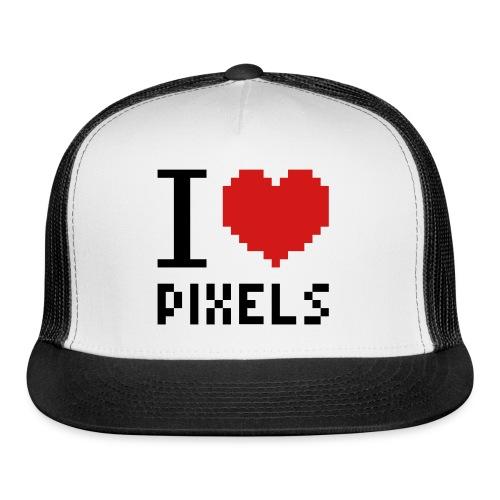 I Love Pixels - Mens Tee White - Trucker Cap