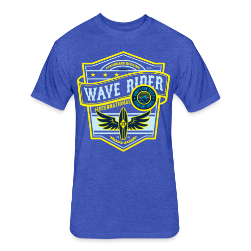 Wave Rider - Fitted Cotton/Poly T-Shirt by Next Level
