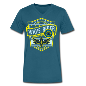 Wave Rider - Men's V-Neck T-Shirt by Canvas