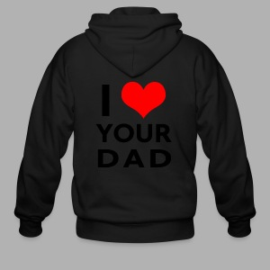 I heart your dad - Men's Zip Hoodie