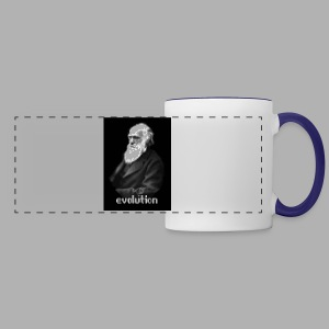 Darwin Evolution Pixels - Panoramic Mug