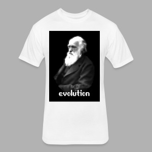 Darwin Evolution Pixels - Fitted Cotton/Poly T-Shirt by Next Level