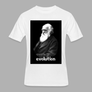 Darwin Evolution Pixels - Men's 50/50 T-Shirt