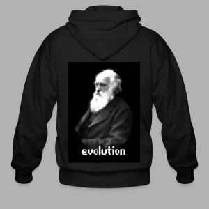 Darwin Evolution Pixels - Men's Zip Hoodie